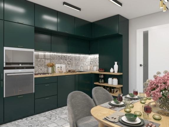 Кухня Dark Green
